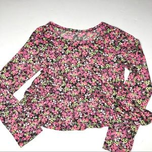 SO girls floral long sleeve skirted bottom